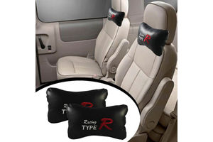 Type R Car Seat Neck Cushion Pillow - Black Colour