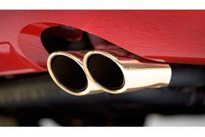 Speedwav G28 Round Twin Pipe Car Exhaust Silencer Tip Golden