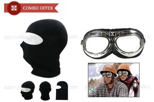 Combo of Balaclava Face Mask and Biking Goggles