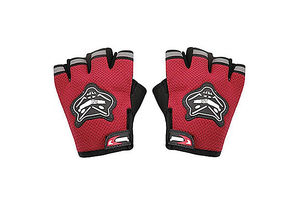 Knighthood 1 Pair of HALF Hand Grip Gloves for Bike Motorcycle Scooter Riding - Red Colour