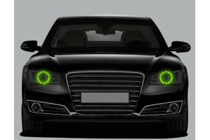 Speedwav Headlight Angel Eyes LED Light Set Of 2-Green