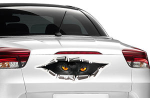 Speedwav Car Boot/Dicky 3D Peeking Monster Sticker-Black Panther