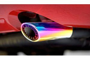 Speedwav C145 Gunner Oval Car Exhaust Silencer Tip Multicolor