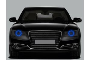 Speedwav Headlight Angel Eyes LED Light Set Of 2-Blue