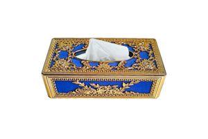 Speedwav Royal Blue Golden Designer Tissue Holder Box