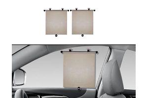 Speedwav Car Side Window Roller Sunshades (Set of 2) - Beige