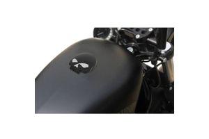 Skull Fuel Cap Black for Harley Davidson
