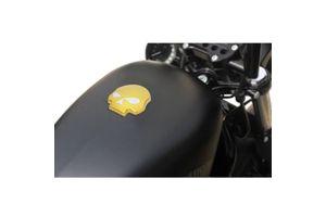 Skull Fuel Cap Golden for Harley Davidson