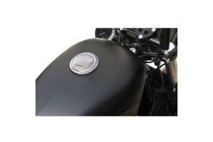 Number One Skull Fuel Cap Chrome for Harley Davidson