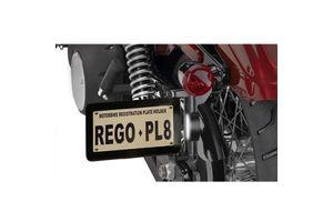 Side Licence LED Number Plate Foldable for Harley Davidson