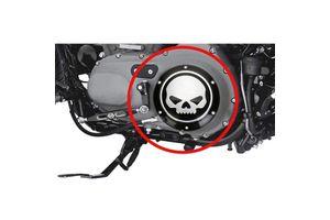 Skull Derby & Timer Cover Set of 2 Black for Harley Davidson