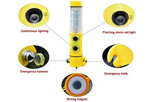 Speedwav 5 in 1 Car Emergency Tool with Hammer+ LED Flashlight+ Safety Belt Cutter+ Magnet Surface & Torch