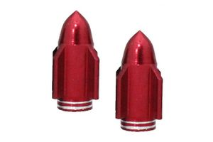 Speedwav Rocket Shaped Designer Tyre Valve Cap Universal Size for All Tyres Valves - Red