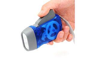 Blue Hand Pressing LED Emergency Light