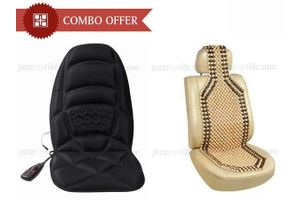 Combo Of Seat Massager + Wooden Beads