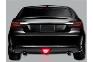 Speedwav Red 12 LED Brake Light with Flasher