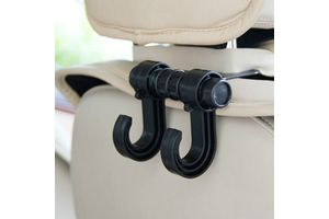 Speedwav Headrest Luggage Hanger Car Holder - Double Hooks