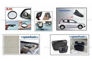 Speedwav Combo Anti-Slip Mat+Blind Spot Mirror+Photo Frame+Fin Antenna+Trash Bin