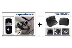 Combo of Speedwav Car Dining Tray-Black & Sunglass Holder-Black