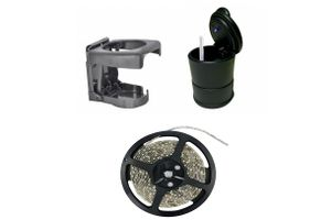 Car Party Kit - Drink Holder+LED Light Ashtray+LED Strip