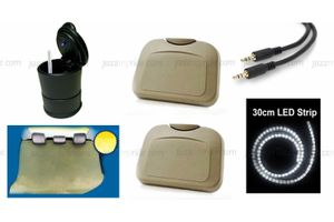 Car Party Kit - Waterproof Party Seat+Party Trayx2+LED Ashtray+Aux Cable+LED Strip