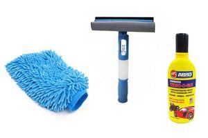 Combo Speedwav 3 in 1 Cleaning Wiper+Microfiber Glove Mitt+ABRO Shampoo 100ml