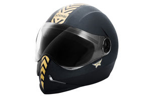 Steelbird Helmet - Adonis Dashing Black With Golden Sticker