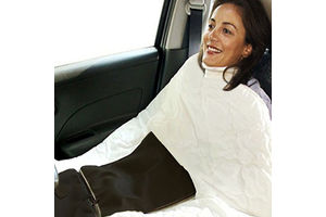 Speedwav Car Travel Blanket Cum Cushion-Beige