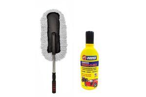 Speedwav Extendable Aluminium Handle Microfiber Duster + Abro 100ML Shampoo