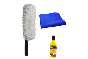 Speedwav Car Cleaning Kit Long Microfiber Duster + Abro Shampoo + Cloth