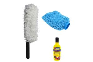 Speedwav Car Cleaning Kit Long Microfiber Duster + Abro Shampoo + Glove