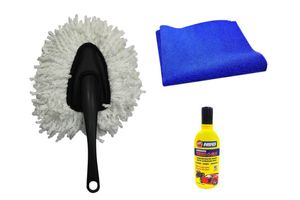 Speedwav Car Cleaning Kit Small Microfiber Duster + Cloth + Abro Shampoo