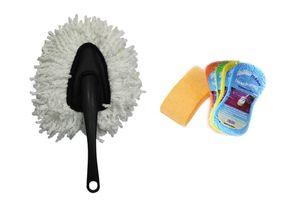 Speedwav Car Cleaning Kit Small Microfiber Duster + Magic Sponge