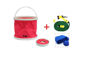 Speedwav Foldable Cleaning Kit Water Bucket/Bin + Spray Jet Gun 10 meter