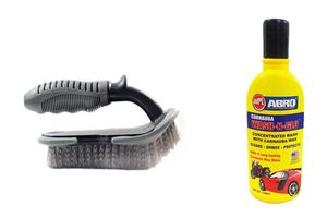 Speedwav Car Cleaning Kit Floor Mats/Tyre/Carpet Brush + Abro Shampoo100ml