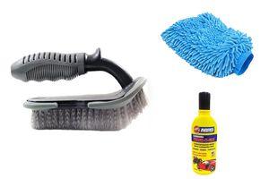 Speedwav Car Cleaning Kit Mats/Tyre Brush+Abro Shampoo+ Microfiber Glove