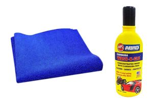 Speedwav Car Cleaning Kit Microfiber Cloth + Abro Shampoo 100ml