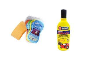 Speedwav Car Cleaning Kit Wash Magic Sponge + Abro Shampoo 100ml