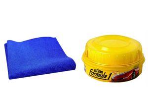 Formula 1 Carnauba Car Wax Polish 230gm + Speedwav Microfiber Glove Mitt