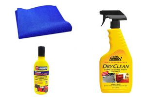Formula 1 Car Cleaning Kit Upholstery 592ml+Microfiber Cloth+Abro Shampoo