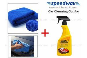 Speedwav Car/Bike Cleaning Kit Formula 1 Spray Wax Polish+ Microfiber Cloth