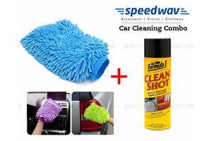 Speedwav Car Cleaning Kit Formula1 Clean Shot Foam Cleaner+Microfiber Glove