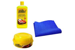Speedwav Car Cleaning Kit Formula1 Shampoo 473ml+Wax Polish+Microfiber Cloth