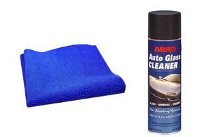 Speedwav Car Cleaning Kit Abro Glass Cleaner GC-450(623gm)+Microfiber Cloth