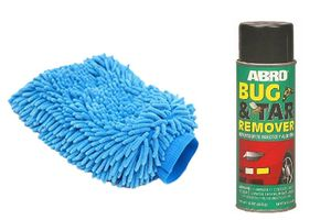 Speedwav Car Cleaning Kit Abro Bug & Tar Remover BT422 +Microfiber Glove