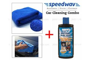 Speedwav Car Cleaning Kit Abro Metal Polish MP434(236ml)+ Microfiber Cloth