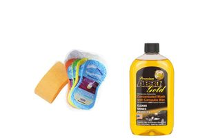 Speedwav Car Cleaning Kit Abro Gold Shampoo CW-928 (946 ml)+ Magic Sponge