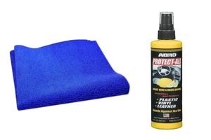 Speedwav Car Cleaning Kit Abro Protect All Lemon PA512(269ml)+Microfiber Cloth