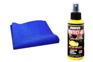 Speedwav Car Cleaning Kit Abro Protect All Lemon PA312(120ml)+Microfiber Cloth