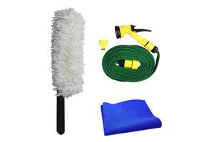 Speedwac Car Cleaning Kit Long Microfiber Duster +10 meter Water Gun+Cloth